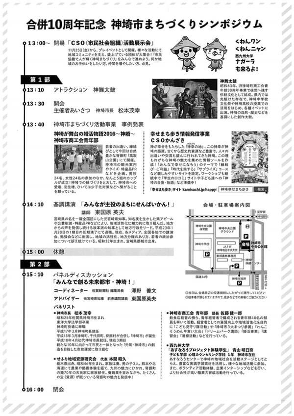 神埼市合併10周年まちづくりシンポジウムタイムシフト