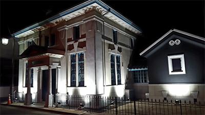 旧古賀銀行神埼支店のライトアップ